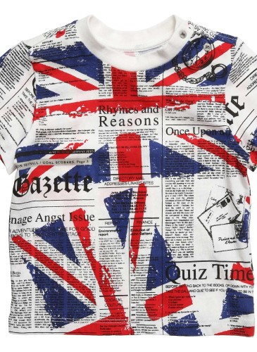Baby Boys Cotton Union Jack T-Shirt