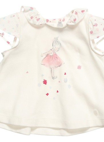 Baby Girls Ivory Cotton Top