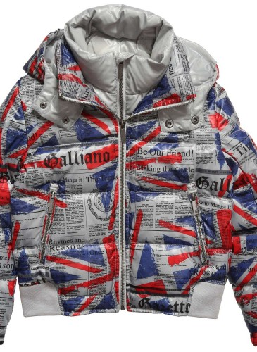 Boys Down Padded Union Jack Gazette Jacket