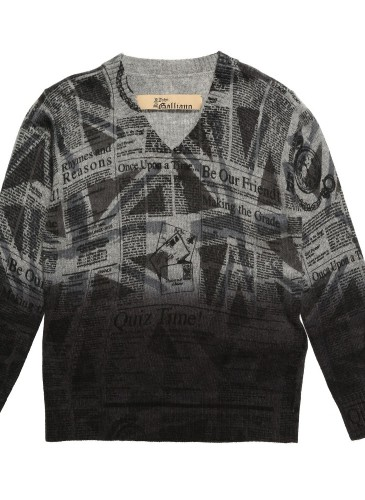 Boys Grey Knitted Gazette Sweater