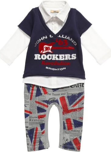 Boys One Piece Jersey Romper Suit