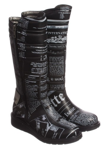 Girls Black Gazette Tall Boots