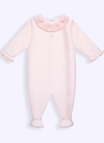 pink velour sleepsuit