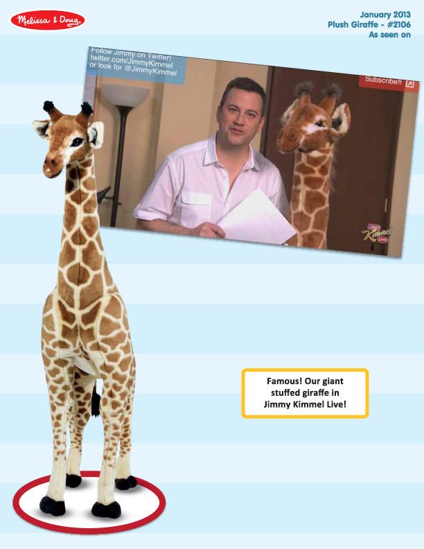 Jimmy Kimmel - January 2013 - Plush Giraffe (2106)