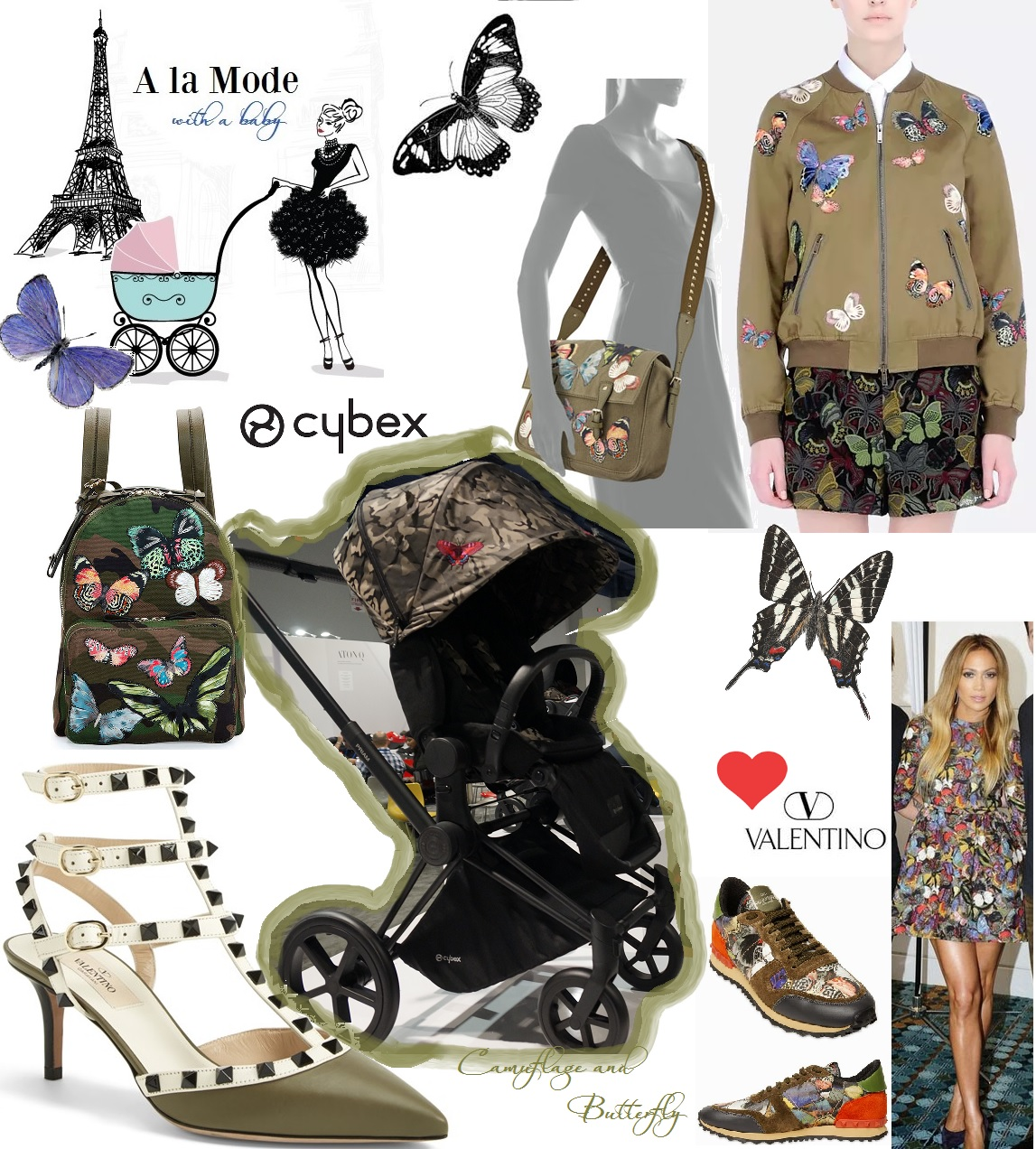 camuflage and butterfly