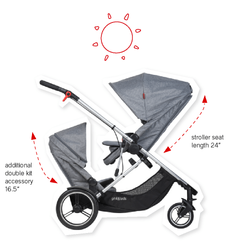 phil-teds-voyager-luxury-double-inline-stroller-double-kit-and-main-seat-sizes-with-sunnhoods-open