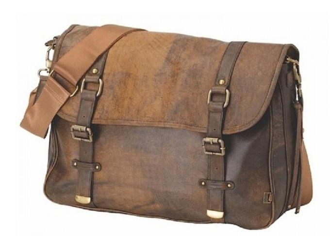OiOi Jungle Leather Satchel Diaper Bag