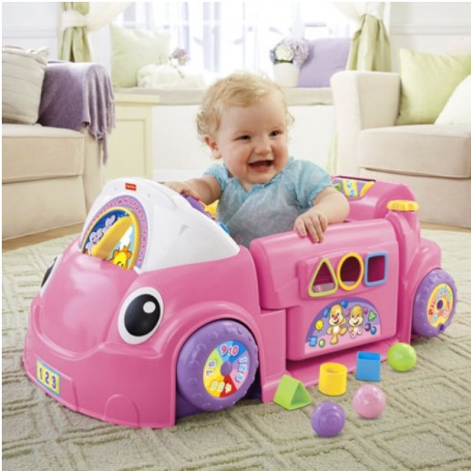 Laugh & Learn Smart Stages Crawl Around Car in Pink