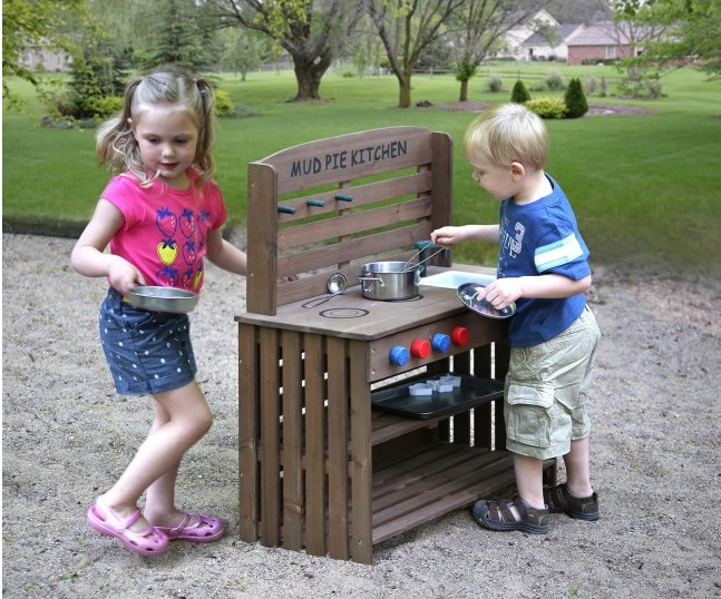 Outdoor Chef Mud Pie Kitchen with Cooking Accessories