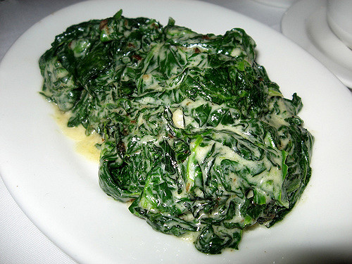 Spinach with cream