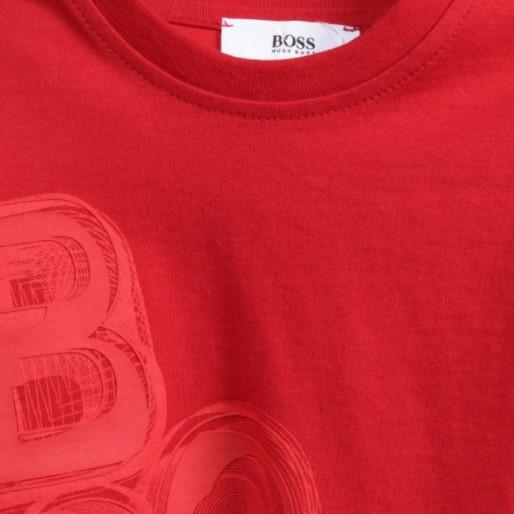 BOSS Baby Boys Red Side Logo Top