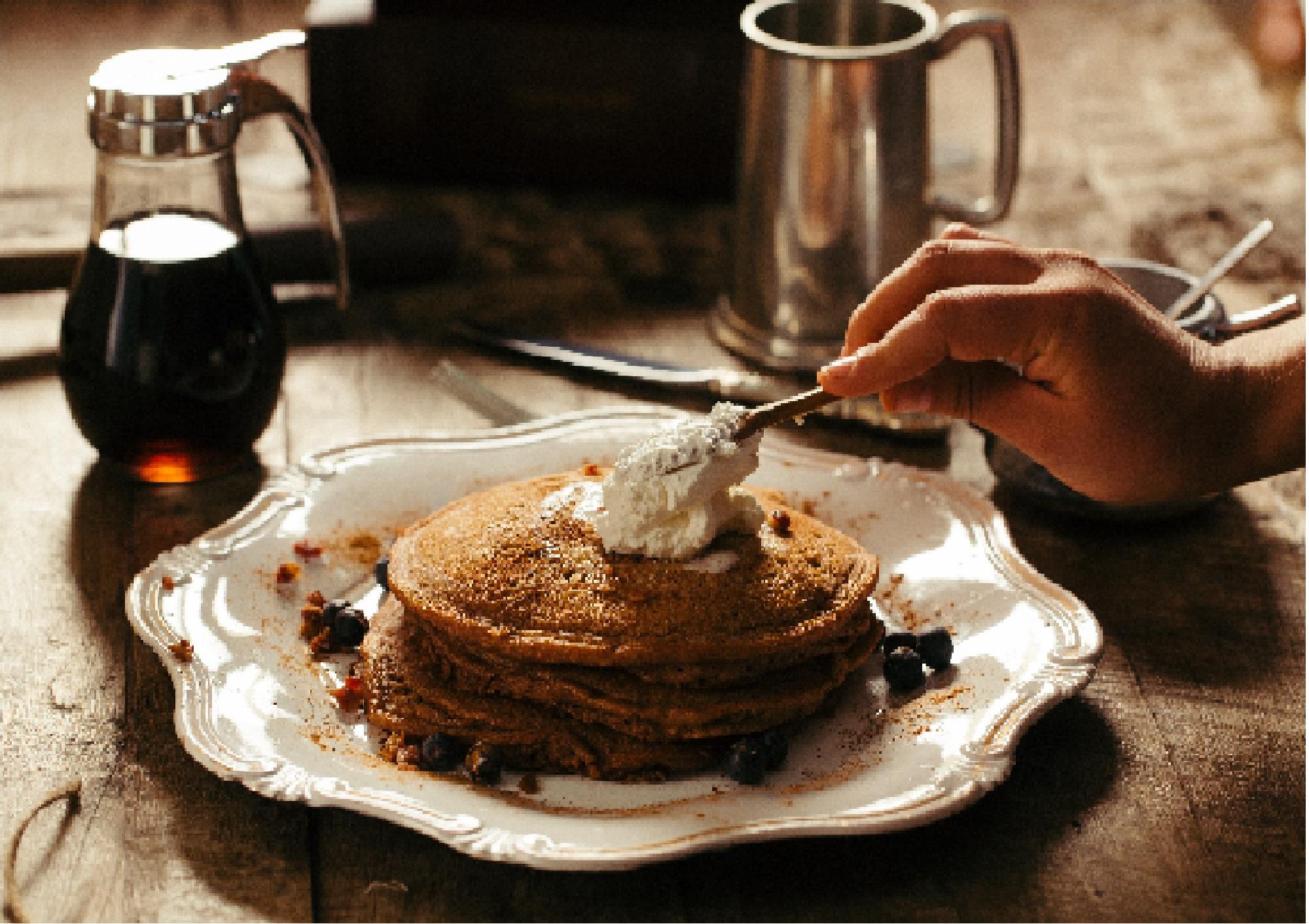 Savory Cornbread Pancakes