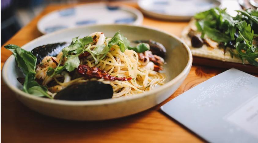 Salmon & spaghetti