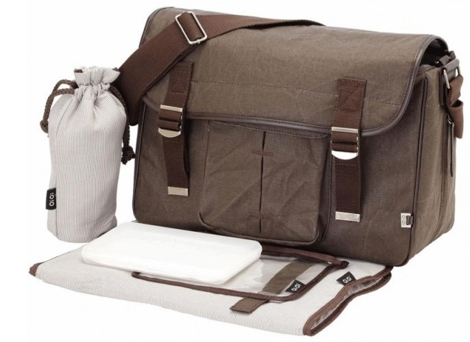 OiOi Waxed Canvas Diaper Bag