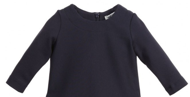JUNIOR GAULTIER Baby Girls Navy Blue Dress