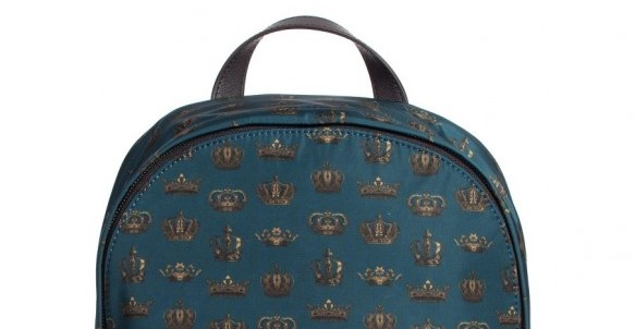 DOLCE & GABBANA Boys Blue Teal 'Crown' Backpack