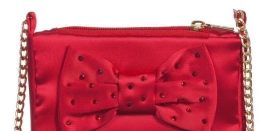 MISS BLUMARINE Girls Red Satin Bag