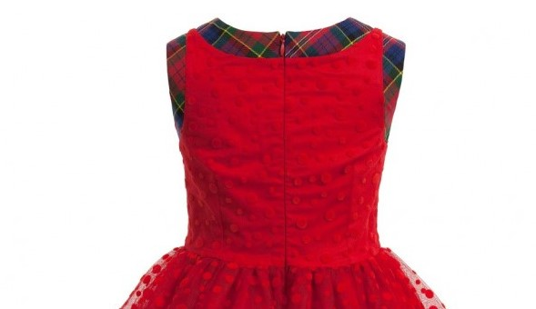 JUNIOR GAULTIER Red Spot Tulle Dress