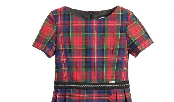 JUNIOR GAULTIER Red Tartan Dress