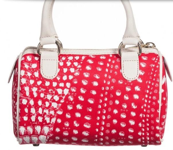 ROBERTO CAVALLI Girls Red & Ivory Print Shoulder Bag