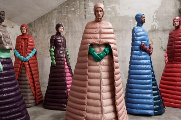 Moncler x Pierpaolo Piccioli coat gowns