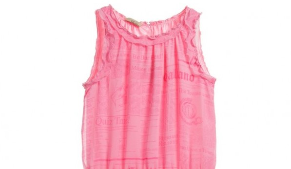 JOHN GALLIANO Girls Pink Gazette Dress