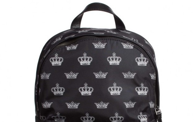 DOLCE & GABBANA Boys Black 'Crown' Backpack