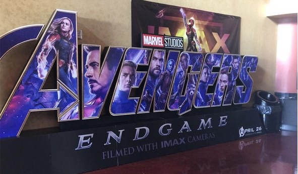 Avengers Endgame IMAX standee puts Captain Marvel at HEAD of Avengers – what does it mean