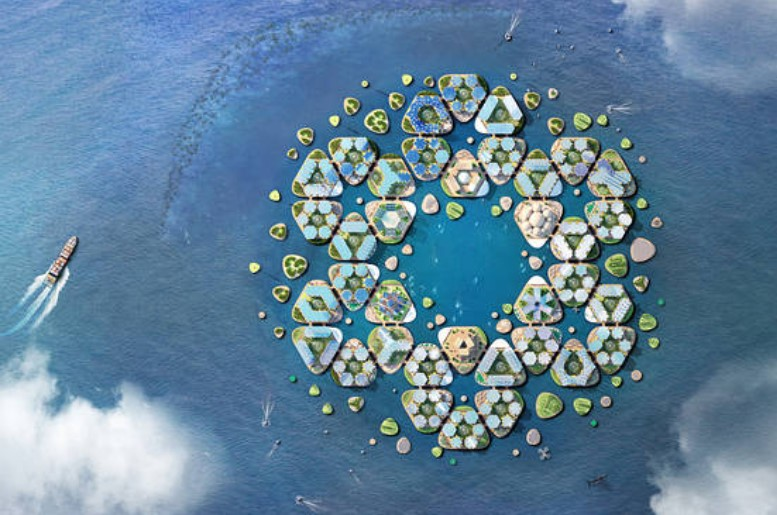 Self-Sustainable, Floating Cities Proposed in Response to Rising Sea Levels