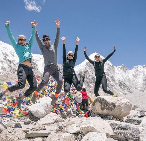 Mandy Moore celebrates reaching Mount Everest base camp