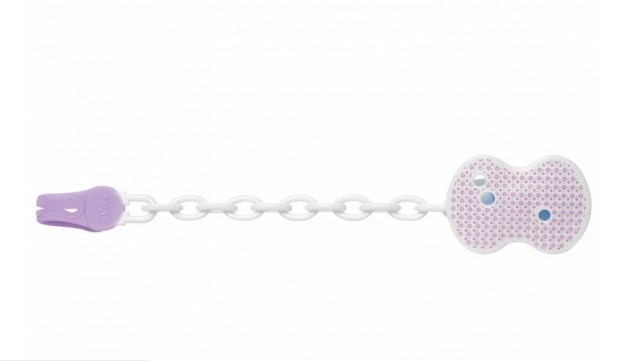 Chicco Pacifier Clip – Pink