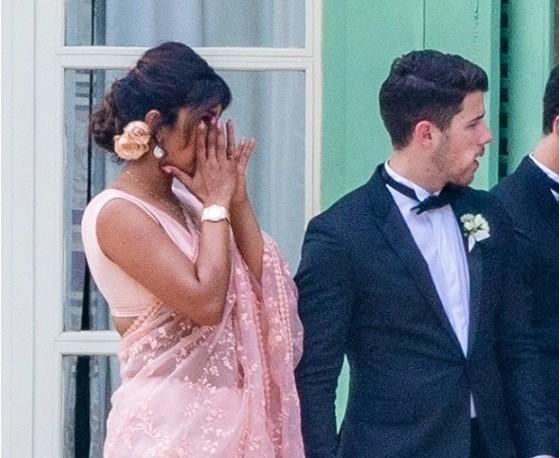 Priyanka Chopra Wipes Away Tears At Joe Jonas & Sophie Turner's Wedding in Touching Photo
