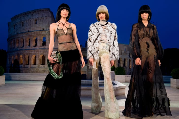 Fendi stages couture fashion show amid ruins of ancient Rome
