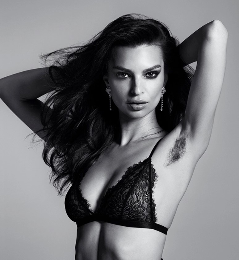 Emily Ratajkowski Proudly Poses With Long Armpit Hair For 'Harper's BAZAAR': It Makes Her 'Feel Sexy'