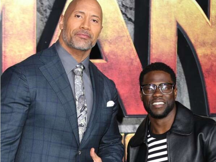 """Dwayne Johnson Gives Health Update on """"Son"""" Kevin Hart After Car Accident"""