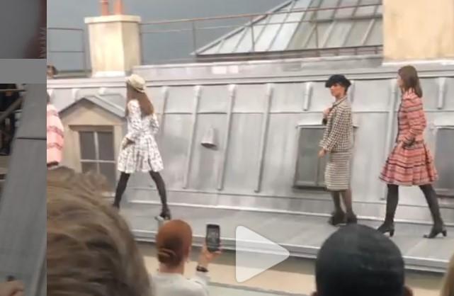 Gigi Hadid saves Chanel show as comedian crashes the runway
