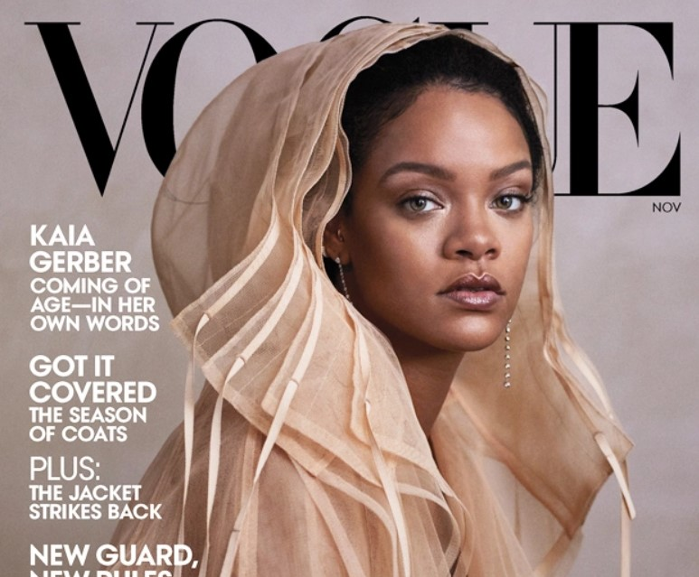Rihanna Stuns On 'Vogue' Cover In SheerCoat & Admits She 'Absolutely' TurnedDown Super Bowl Halftime