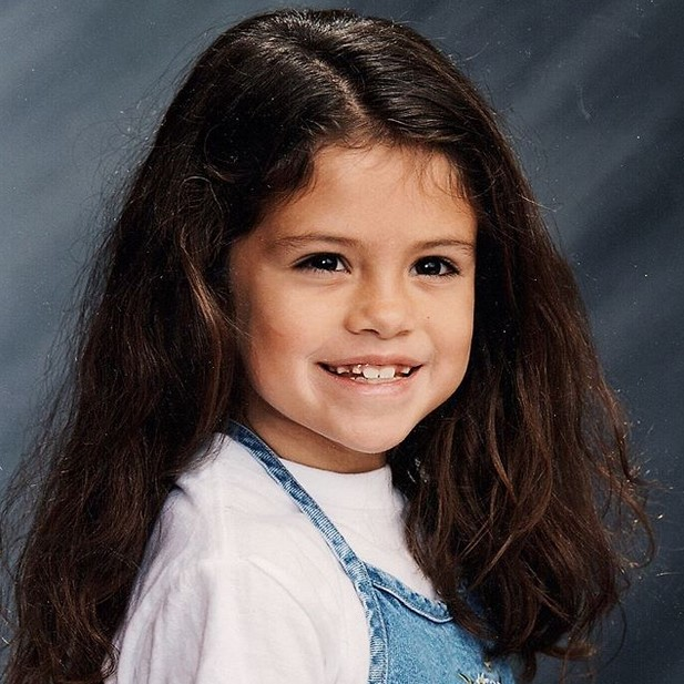 Selena Gomez Matches Justin Bieber'sChildhood IG Pics With One Of Her Own