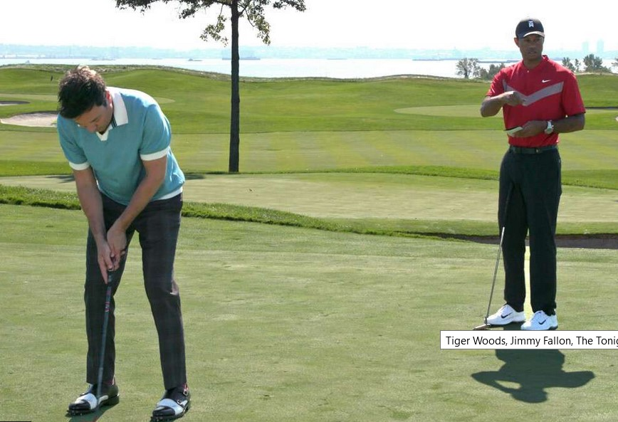Watch Jimmy Fallon and Tiger Woods Find the Ultimate Treasure During a Golf Match