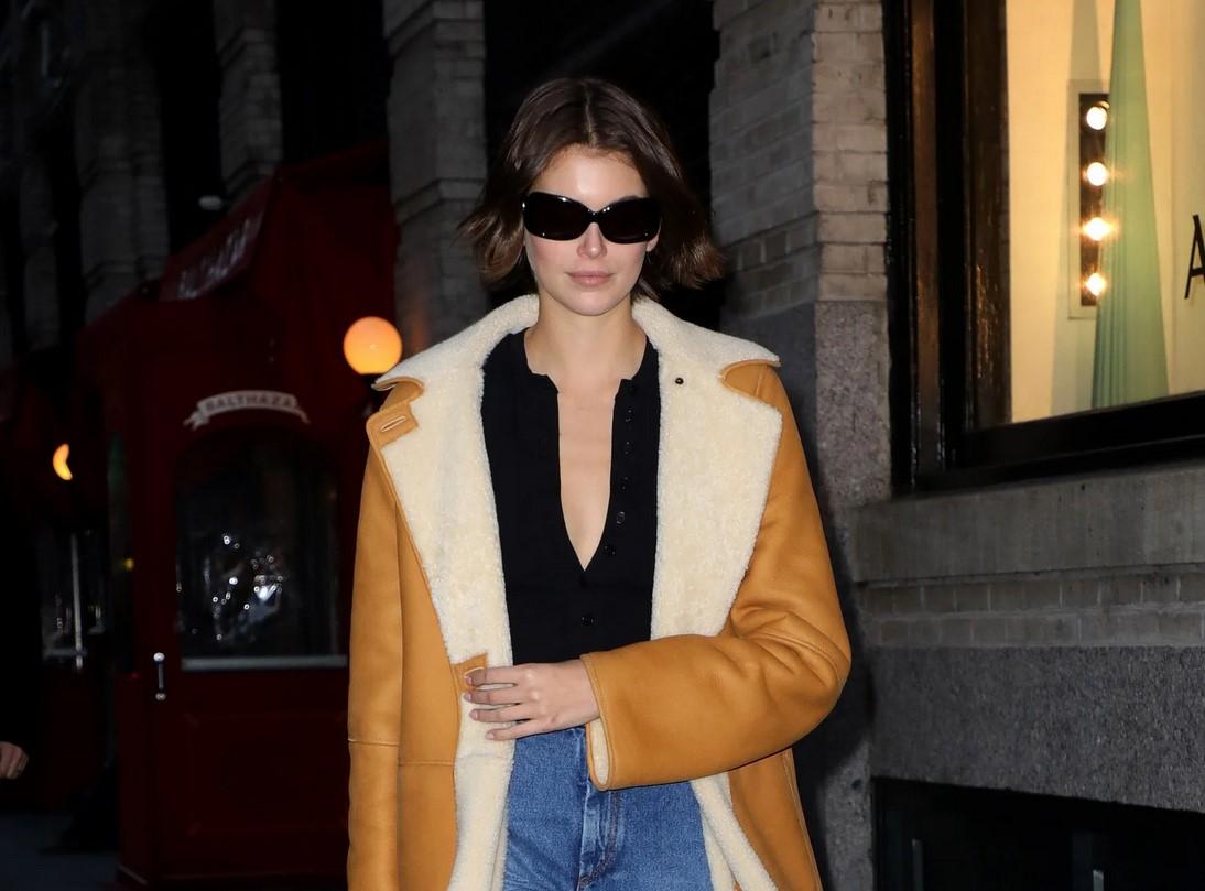 Kaia Gerber and Bella Hadid Sport a New Model Off-Duty Jacket