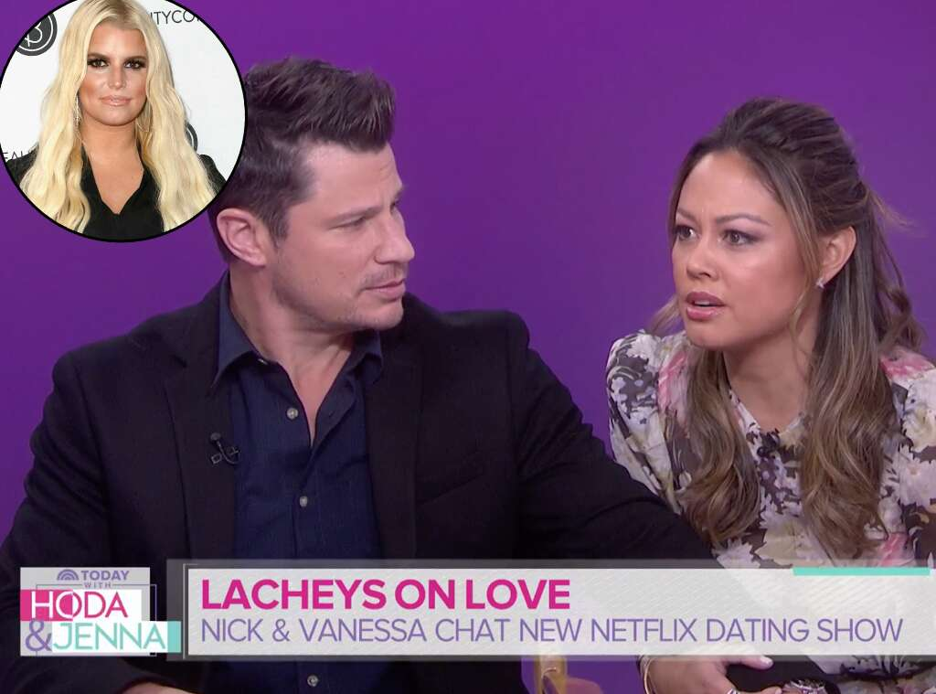 Watch Nick Lachey and Vanessa Lachey's Awkward Reaction to Jessica Simpson Mention